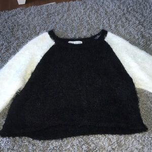 Planet Gold soft fuzzy crop sweater